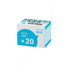 Элем.пит. КОСМОС  LR03 20шт в коробке (KOCLR0320BOX) (20/640)