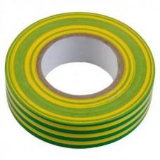 Изолента ПВХ GIT-13-15-20-YG 0,13*15мм, 20 м, Желто-зеленая, 1/10/250