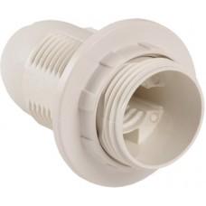 Патрон General GLH-E14-HRP-H-W-R, термостойкий пластик, Е14, подвесной, с кольцом, белый, 1/50/600