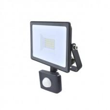Прожектор светодиодный с датчиком КОСМОС 20Вт, 1600Лм, IP65, 6500K Super-Slim