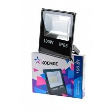 Прожектор светодиодный КОСМОС 100Вт, 8000Лм, IP65, 6500K Super-Slim