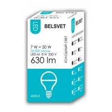 Лампа светодиодная BELSVET LED-M G45 7 W 4000 K E14 (шарик)