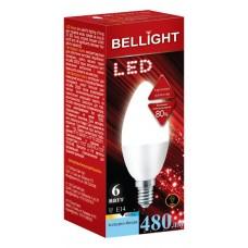 Лампа светодиодная BELLIGHT LED Свеча C37 6W 220V E14 4000K