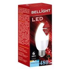 Лампа светодиодная BELLIGHT LED Свеча C37 6W 220V E27 4000K