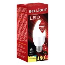 Лампа светодиодная BELLIGHT LED Свеча C37 6W 220V E27 3000K