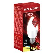 Лампа светодиодная BELLIGHT LED C37 7W 220V E27 3000K