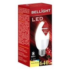 Лампа светодиодная BELLIGHT LED C37 8W 220V E27 3000K