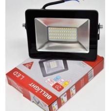 Прожектор светодиодный BL-LFL-2-20-12/24/36 slim/СДО 2-20-12/24/36 slim, 4500К, 1600 Lm, IP BELLIGHT