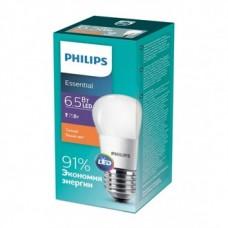Лампа ESS LEDLustre 6.5-75W E27 827 P45N Philips