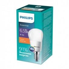Лампа ESS LEDLustre 6.5-75W E14 827 P45N Philips