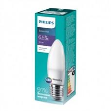 Лампа ESS LEDCandle 6.5W-75W E27 840 B35ND Philips